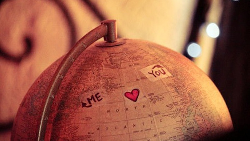 "A globe with labels ""Me"" and ""You"""