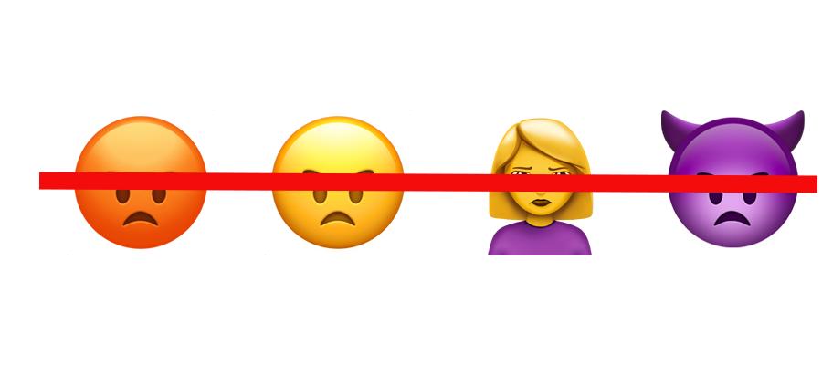 no angry emojis